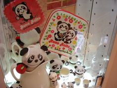 'Rune Panda' goods from Rune Naitō museum by laced.candy, via Flickr ☆内藤ルネ博物館から、ルネパンダ グッズ。