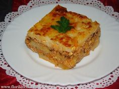 Musaca de cartofi cu carne – Flori's Kitchen Lasagna, Quiche, Food And Drink, Breakfast, Ethnic Recipes, Fine Dining, Meal, Pie, Morning Coffee