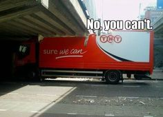 Here's another truck driver that believes in the company slogan.