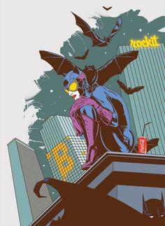 Superoutine: Catwoman and Batman by Nadzeya Makeyeva