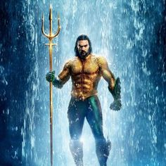 Aquaman is a modern day movie that is largely based off the ancient God Neptune, or Poseidon. Similarities can be seen in the use of the trident. Aquaman Actor, Aquaman Dc Comics, Aquaman Logo, Aquaman 2018, Jason Momoa Aquaman, Christopher Abbott, Christopher Reeve, Billy Crystal, Cool Stuff