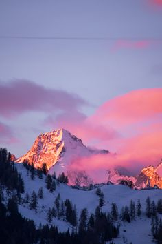 Mont Dolent - Sunrise lights up the South-East face of Mont Dolent in the Swiss…
