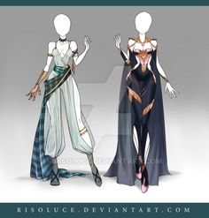 (CLOSED) Adoptable Outfit Auction 124-125 by Risoluce.deviantart.com on @DeviantArt