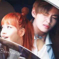 Taelice Kpop Couples, Cute Couples, Bts Girlfriends, Korean Couple, Blackpink And Bts, Bts Fans, Blackpink Lisa, Vmin, Jikook