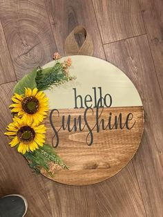 Summer Crafts, Fall Crafts, Christmas Crafts, Wooden Door Signs, Diy Wood Signs, Cute Crafts, Crafts To Make, Diy Crafts, Dollar Tree Crafts