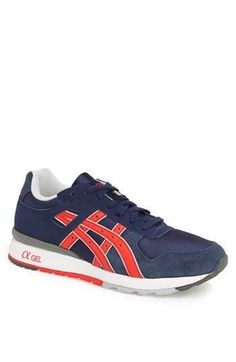 f06a132545 Blue and red asics running shoes Asics Running Shoes