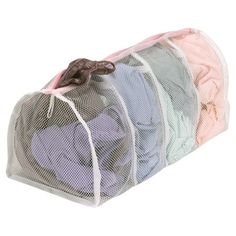 Household Essentials 130 Polyester Mesh Hosiery Wash Bag Gently Wash Delicates in 4 Compartments Laundry Storage, Laundry Room Organization, Storage Organization, Organizing, Laundry Station, Laundry Pedestal, Wash Bags, Fashion Room, High Fashion