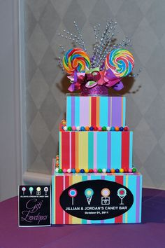 Gift Box for a candy themed mitzvah