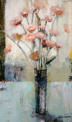 Jeffrey Terreson | Poppies | 60 x 36 | Oil & Wax on Canvas