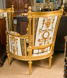 "Large Pair of Louis XVI Style Bergeres ""Versace Collection"" image 6"