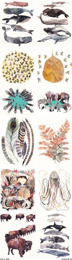 Michelle Morin's artwork   //   FOXINTHEPINE.COM
