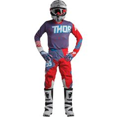 Thor Motocross MX ATV Men/'s Pants S8 Pulse Geotec Black//Teal 34