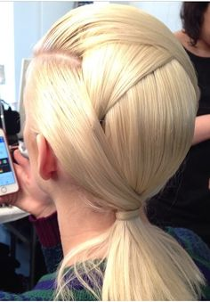 Gorgeous Hair at the Fendi showing - Milan fashion week.