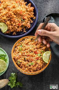 Instant Pot Mexican Rice - easy, quick, restaurant style Mexican Rice made in the Instant Pot. Serve it as a side dish or along with tacos, burritos, wraps! If you love all the Instant Pot Vegetarian Mexican Rice, Mexican Rice Recipes, Rice Recipes For Dinner, Vegetarian Recipes, Cooking Recipes, Mexican Quinoa, Mexican Bowl Recipe, Whole30 Recipes, Mexican Dishes