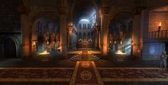 I meshed textured and lit this environment for our mobile game WWE Immortals Inspiration included from concept ca Throne room Fantasy castle Fantasy rooms