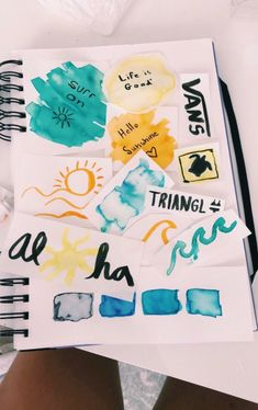 Stickers are a fun way to personalize anything, from Hydroflasks to phone cases. There are tons of fun ways to decorate with stickers! Zantangle Art, Happy Vibes, Mellow Yellow, Lettering, Journal Inspiration, Artsy Fartsy, Art Inspo, Painting & Drawing, Diy Painting