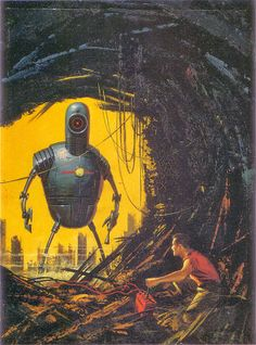 Muddy Colors: Ed Valigursky // The cover for Amazing Science Fiction Stories