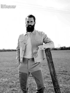 Beards, tattoos, gold teeth, cowboys – Good Folk by Alexandra Leese features the infamous Ricki Hall at Nevs and Danny Fox at Select for Cli. Ricki Hall, Bearded Tattooed Men, Beard No Mustache, Hair And Beard Styles, Hair Styles, Facial Hair, Model Agency, Style Guides, Fashion Brands