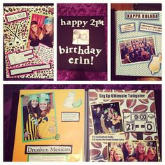 """Adorable """"shot"""" book for a sister's 21st birthday- full of shots of you guys together"""