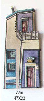 Colorful ceramic home contemporary art 3d wall art - A