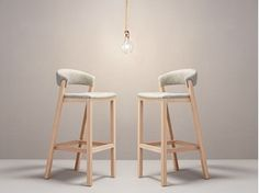 Shop the Oslo Barstool and more contemporary furniture designs by Missana at Haute Living. Sofa Design, Chair Design Wooden, Interior Design, Wood Bar Stools, Bar Chairs, Kitchen Chairs, Lounge Chairs, Dining Chairs, Dining Room