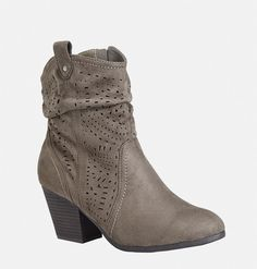Shop detailed new booties in wide width sizes 7-13 like the Jessie Perforated Bootie available online at avenue.com. Avenue Store