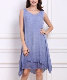 Love this Blue Layered Shift Dress on #zulily! #zulilyfinds