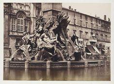 Fontaine du Bernin et base de l'obélisque Place Navone 1854 (ca) Italy Vacation, Italy Travel, Piazza Navona, Modern Art, Places To Visit, Louvre, City, Painting, Base