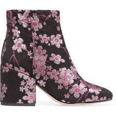 SAM EDELMAN   Taye floral-brocade ankle boots (€79) ❤ liked on Polyvore featuring shoes, boots, ankle booties, sam edelman bootie, sam edelman booties, floral ankle boots, floral booties and sam edelman boots