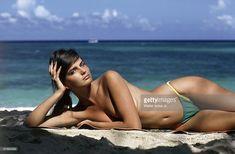 News Photo : Model Paulina Porizkova poses for the 1983 Sports...