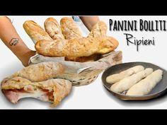 PANINI BOLLITI RIPIENI 🥖 Croccanti fuori Morbidi dentro 🥖 - YouTube Diy Snacks, Bread And Pastries, Easy Bread, Ciabatta, Sandwiches, Biscotti, Baked Goods, Dessert Recipes, Yummy Food