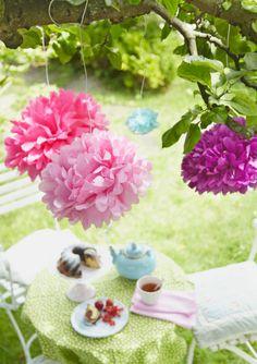 Deko Sommerfest deko fürs sommerfest unsere ideen diy blumendeko an den bäumen