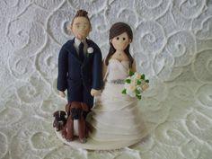 custom bride and  groom with dogs wedding cake by Abracadabrakr, $165.00