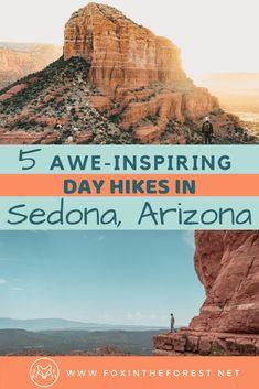 Check out these awe-inspiring Sedona hikes for your next trip to Arizona. Get local insight on the best Sedona hiking trails. Arizona Sunrise, Sedona Arizona, Arizona Travel, Arizona Trip, Camping And Hiking, Hiking Trails, Sedona Hikes, Utah Hikes, Arizona Waterfalls