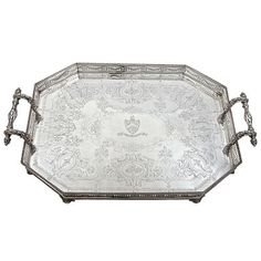 Antique Victorian, Sterling Silver Gallery Tray