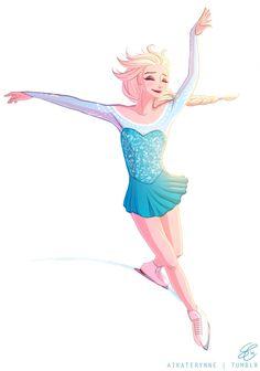 An Ice Skating Elsa <3