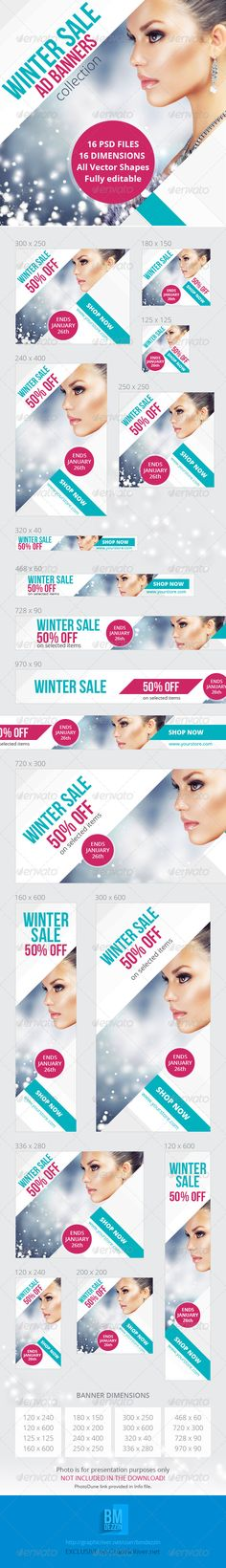 Winter Sale Ad Web Banners Template PSD | Buy and Download: http://graphicriver.net/item/winter-sale-ad-banners/6019684?WT.ac=category_thumb&WT.z_author=bmdezzin&ref=ksioks