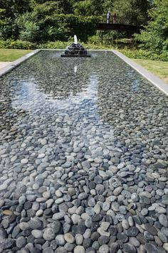 You can only see it here Modern Water Feature, Outdoor Water Features, Backyard Water Feature, Water Features In The Garden, Ponds Backyard, Backyard Landscaping, Garden Stream, Water Garden, Green Landscape