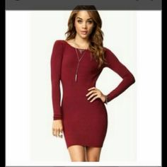 For Sale: Maroon Skin Tight Dress for $18