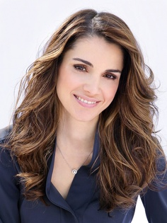 Queen Rania of Jordan--such a gorgeous and inspirational woman.