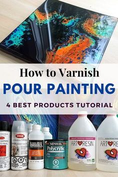 How to Varnish Pour Painting - TOP 4 Finishes from Spray Varnish to Epoxy Resin . - Acrylic Painting Tips - How to Varnish Pour Painting – TOP 4 Finishes from Spray Varnish to Epoxy Resin – Smart - Acrylic Pouring Techniques, Acrylic Pouring Art, Acrylic Resin, Acrylic Art, Diy Resin Art, Epoxy Resin Art, Resin Crafts, Abstract Acrylic Paintings, Resin Paintings