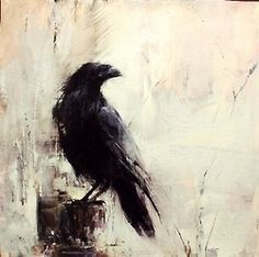 Dark & Moody Art That Reminds Me of Edgar Allan Poe. Crow Painting, Painting & Drawing, Bird Paintings, Crow Art, Bird Art, Raven Bird, Desenho Tattoo, Gothic Art, Painting Inspiration