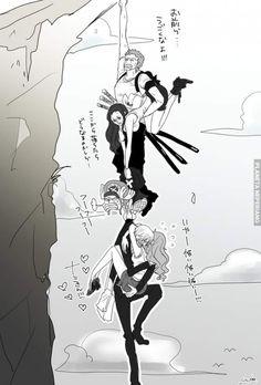 Straw Hat Crew Mugiwaras Zoro Nami Sanji Chopper Robin One Piece One Piece Manga, One Piece Drawing, Zoro One Piece, One Piece Ship, One Piece Fanart, Zoro And Robin, Nico Robin, Zoro Nami, Roronoa Zoro