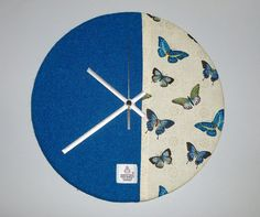Large HARRIS TWEED Butterfly Wall Clock - Handmade to Order in the Outer Hebrides