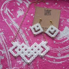 Jewelry set hama beads by handmadelovealex