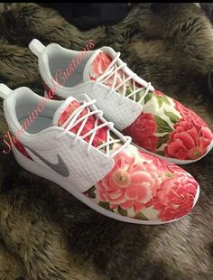 Floral Nike Roshe Run Custom Sneakers by ShoeniversalCustoms