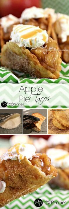 Crispy Cinnamon Sugar Shells with a Warm Apple Pie filling... Wouldn't you love one of these right now??  The perfect way to serve apple pie to a crowd!