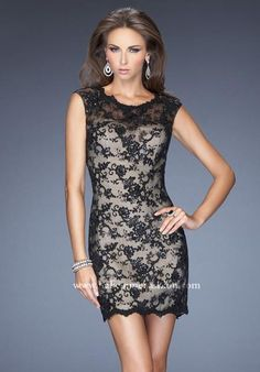 La Femme Fitted Dress 19750