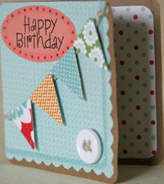 Happy Birthday Pennant Banner Mini Card from L7 Designs on Etsy.  I have purchased cards from this shop, and I LOVE them!  $2.00