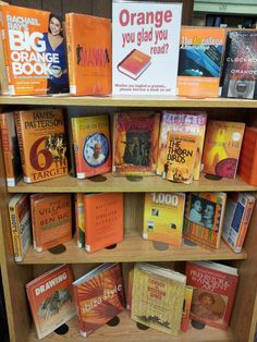 ORANGE You Glad You Read? Bloomfield (NJ) Public Library shows us how to do colorfully punny displays right.